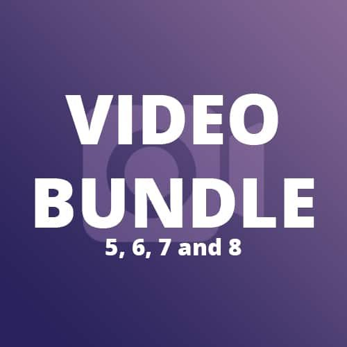 Video Bundle (5, 6, 7 and 8)